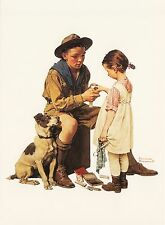 (P033) Postcard - Norman Rockwell - Boys and Girls First Aid Week