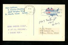 US Postal History Local Post Confair Fort Worth TX 10/7/1965 Stamp Sales Info