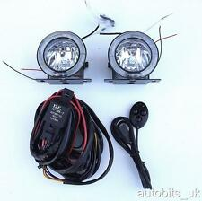 UNIVERSAL 12v ANGEL EYE LED DRL FOG SPOT DAY LIGHTS WIRING 75MM FOR VAUXHALL