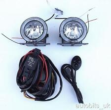UNIVERSALE 12V Angel Eye LED DRL Nebbia Spot Luci Giorno CABLAGGIO 75mm per VW GOLF POLO