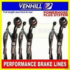 HONDA CBR600F 1987-90 VENHILL F&R s/steel braided brake line set BK