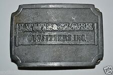 Vintage Lewis & Clark Outfitters Inc. Metal Belt Buckle Outdoor Gear Rare