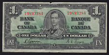 1937 Bank of Canada $1 - H/A Narrow Panel Variation