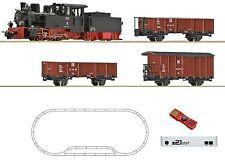 Roco 31031 H0e z21 Digital-Startset Dampflokomotive mit Güterzug DR