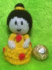 KNITTING PATTERN - Belle inspired chocolate cover fits ferrero rocher