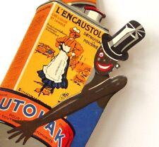 Carton Publicitaire ancien affiche originale Favre Pub Negripub Noirs Art-deco