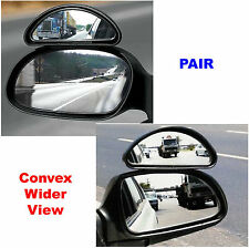 Pair 2X Frog Eyed Convex Wide Angle View Car Van Towing Blind Spot Mirrors 177C