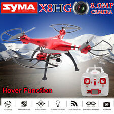 Syma X8HG 6-Axis Gyro 2.4G RC Helicopter with 8MP 1080P Camera 3D Rollover RTF