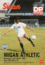 Swansea City v Wigan Athletic  21 Apr 1990 FOOTBALL PROGRAMME