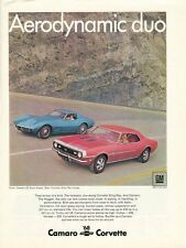 1968 Chevrolet CORVETTE Original CAMERO SS Coupe ADVERTISMENT 435hp TURBO V-8