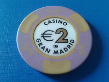 SPAIN 2€ CASH CASINO GRAN MADRID CHIP