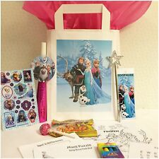 • Disney Frozen **Personalised Pre-Filled** Party Loot Bag Girls Birthday Favour
