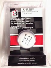 Hurst 1630008 White Classic Ball Shifter Knob 5-speed 3/8 - 16 Threads