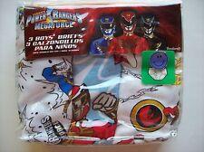 Power Rangers Underwear Underpants Briefs Boys 3pk Megaforce Sabans Sz 4 NIP
