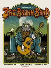 2013 ZAC BROWN BAND SPRINGFIELD SIX PACK GUITAR CONCERT TOUR POSTER 5/16 AP MO