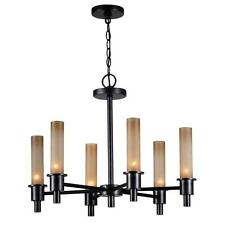 World Imports Dunwoody 6-Light Oil Rubbed Bronze Chandelier Hanging