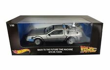 Hot Wheels 1:18 Scale Back to the Future Diecast DeLorean Time Machine CMC98 NEW