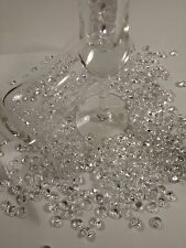 200 Pc Clear Acrylic Diamond Confetti Table Scatter 8 mm. Cal