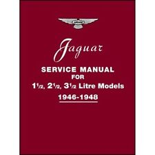 Jaguar Service Manual 1946-1948 for 1.5, 2.5, 3.5 Litre Models book paper