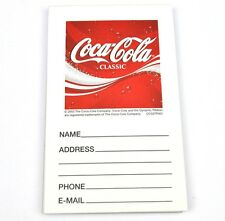 Coca-Cola Classic Notepad Address Block - Coke USA Address Pad