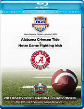 2013 DISCOVER BCS NATIONAL CHAMPIONSHIP GAME DVD + Blu-ray Alabama Crimson Tide