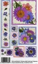 ROYAL BOUQUET FLOWERS TRANSLUCENT E-Z RUB ON TRANSFERS CARD MAKING ROY991Taa