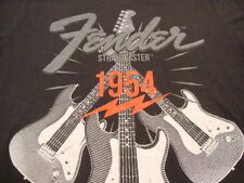 Fender Guitars Electric Acoustic Bass Rock 1954 stratocaster V Neck T Shirt L