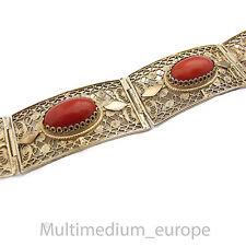 Koralle Silber Armband vergoldet filigran coral silver gilt bracelet filigree