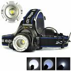 5000Lm XM-L T6 LED 3-Modes Rechargeable 18650 Zoom Headlamp Headlight Head Torch