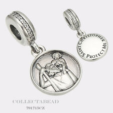 Authentic Pandora Sterling Silver Dangle Guardian Of Travel Bead 791715CZ