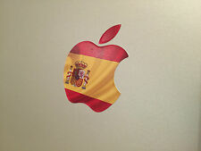 "España / Pabellón Español Apple Logo Decal Sticker Para Apple MacBook 13 "" 15"""
