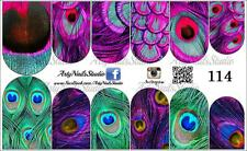 #114 Slider design for nail art (decal stickers for gel polish, acrylic)