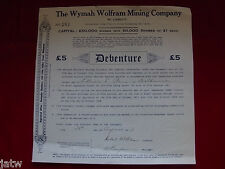 Australia - Share Scrip. 1917 The Wymah Wolfram Mining Co N/L (Tallanagatta NSW)