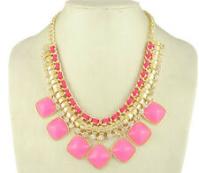 Fashion Women Mixed Style Multicolor Bib Statement Choker Necklace Pendant P43