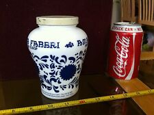 Amaresa Fabbri Griottes Av Sirop Italian Glass Collectable Old Container & Lid
