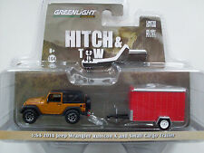 2014 Jeep Wrangler Rubicon X avec Cargo Trailer, Greenlight 1:64 lim. édition