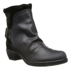 FLY LONDON MEL RUG BLACK LEATHER & SUEDE BIKER ANKLE BOOTS UK 8 EUR 41 RRP £125