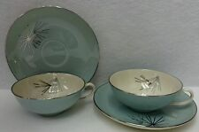 FRANCISCAN china SILVER PINE pattern Cup & Saucer - Set of Two (2) - 1-3/4""