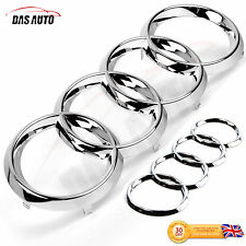 CHROME GRILLE & REAR BADGE RINGS AUDI a1 a6 s4 rs3 rs4 rs5 a4 quattro sline sgs