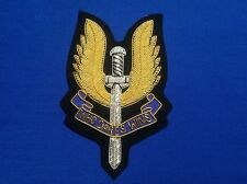 Special Air Service (SAS) Gold bullion Blazer Badge (quilted design)