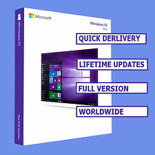 WINDOWS 10 PRO OEM NEW LICENSE KEYS PROFESSIONAL 32/64BIT PRODUCT KEY