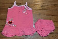 Elmo Sun Dress with Floral Accent and matching diaper cover size 12 Months
