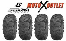 Honda Foreman 500 Tires Set of 4 Sedona Mud Rebel Atv 25X8X12 Front 25X10X12
