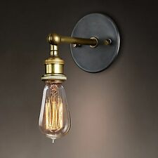 Loft Copper Vintage Industrial Rustic Sconce Wall Light Lamp Fitting UK STOCK