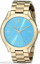 Michael Kors Women's Slim Runway Gold-Tone Stainless Steel Watch MK3265