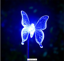 Colour Changing Solar Stake Light - Butterfly (blue)