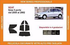 pellicola oscurante vetri SEAT ibiza 5 porte dal 2000-2002 kit completo