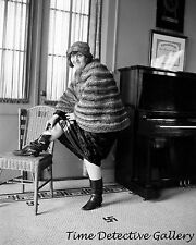 Flapper Stashing a Whiskey Bottle in Her Boot - 1922 - Historic Photo Print