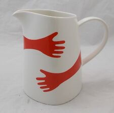 Villeroy & and Boch VIVO - HAPPY HANDS RED large jug / pitcher 17cm tall