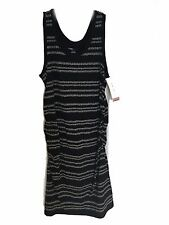 NEW XXL Liz Lange Maternity Black Printed Sleeveless Dress